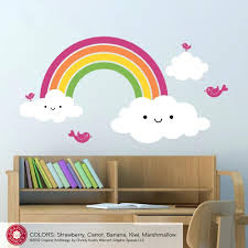 wall decals for boys rooms nursery happy rainbow wall decal kids rainbow  room via nursery happy