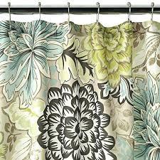 tan shower curtains fl brown green blue shower curtain new home classics tan