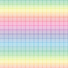 Graph Paper Small Colorful Fabrics Digitally Printed By Spoonflower Rainbow