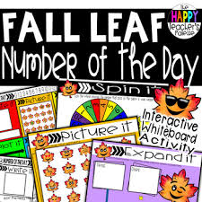 Interactive Number Flip Chart Number Of The Day Fall Leaf Interactive Promethean Board Flipchart Printables