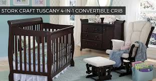 stork craft tuscany 4 in 1 convertible crib 1