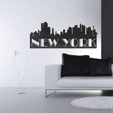 new york wall decal on new york skyline wall art stickers with couture d co new york wall decals