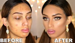 makeup transformation full face acne covering makeup tutorial you