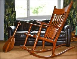 furniture vintage wooden rocking chair design featuring wooden paddle and leather upholstered sofa child