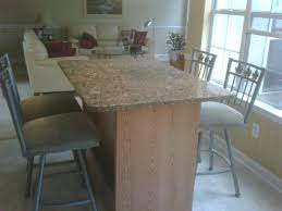 Kitchen Table Granite Buy A Custom Made Kitchen Table Oak And Granite Made To Order
