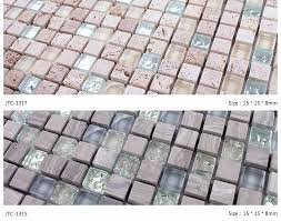Small Picture Hf Jtc 1313 Simple Glass Stone Mosaic Wall Tile Clear Glass Mix