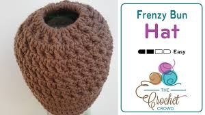 Bun Hat Pattern Extraordinary Crochet A Frenzy Bun Hat The Crochet Crowd