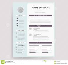 Professional Cv Resume Template Sample Stock Vector Illustration