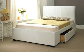 white leather full size bed faux leather drawer bed frame product options size white faux leather