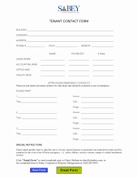 Emergency Information Form Template Fresh 50 Unique Emergency Info ...