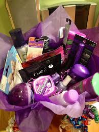 favorite color themed gift basket throw together a bunch of fun toiletrieakeup and a few gift cards all of that person s favorite color