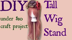 diy tall wig stand for under 10 00
