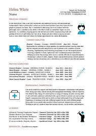 Nursing Resume Template Beauteous Nursing CV Template Nurse Resume Examples Sample Registered