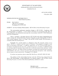 Air Force Letter Of Recommendation Air Force Letter Format Cover Letter Example 20