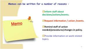 Business Memorandum Letter Business Letter And Memo Writing Presentation