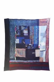 Pauline Boyd, HECHO QUILT, Counterpane, 42 in x 42 in. Made from ... & Pauline Boyd Counterpanehandmade.com Adamdwight.com