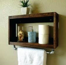 wall shelves for towels favorable wooden crate bathroom storage shelf towel rack for wall long silver