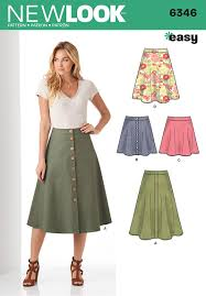 Skirt Patterns Enchanting New Look 48 Misses' Easy Skirts In Three Lengths