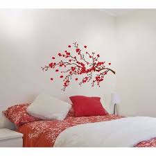 red branch removable wall decals