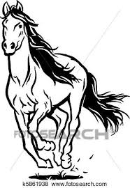 running horse clipart black and white. Delighful White Isolated Black White Running Horse To Running Horse Clipart Black And White G