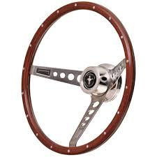 gt performance steering wheel kit retro mustang 3 spoke wood 15 3 hole