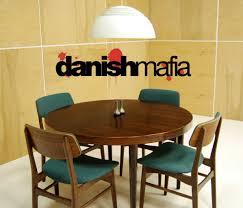 mid century danish rosewood round dining table 9
