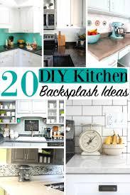 20 diy kitchen backsplash ideas