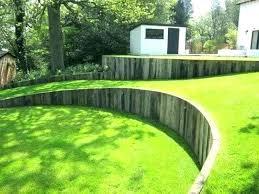 garden retaining wall ideas garden retaining wall ideas garden wall ideas vertical railway sleepers garden retaining
