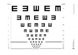 Jaeger Number 1 Eye Chart Who Needs Glasses What Do They Need Them For