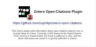 Github Zuphilipzotero Open Citations Zotero Plugin For Open