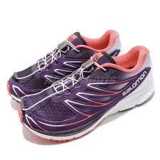 Salomon Running Shoes Size Chart Details About Salomon Sense Mantra 3 Purple Pink White Women Trail Running Shoes L39013400
