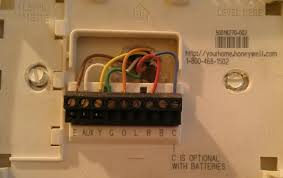 question regarding a honeywell thermostat, wiring the new unit Honeywell Thermostat Wire Connection name oldsetupupstairs jpg views 9339 size 23 3 kb honeywell thermostat c wire connection