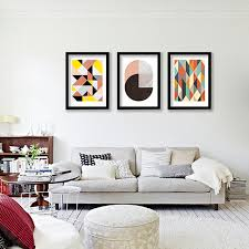 home office wall art. Geometric Patterns Wall Art Canvas Print , Colorful Painting Abstract Prints For Home Office 0