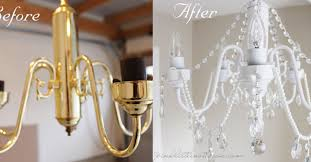 diy chandelier crystal diy before and after white chandelier with crystals and pearls hometalk diy crystal
