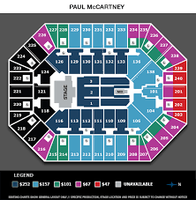 Seating Chart For Paul Mccartney Paul Mccartney Target Center