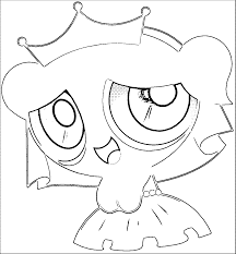 Bubbles Powerpuff Girls Z Coloring Page Wecoloringpage