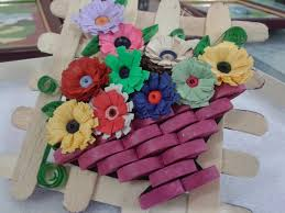 Paper Quilling Flower Baskets Paper Craft And Quilling Paper Quilled Flower Bouquet For Christmas