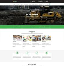 Construction Website Templates Cool Construction Company Building Business 48 Template Themepiko