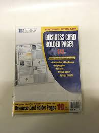 40 Ct Business Card Holder Binder Pages Clear Sleeves Refill