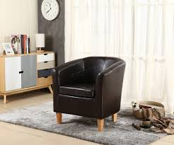 westwood faux leather pu tub chair armchair dining