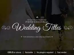 Wedding Title Professional Wedding Title Combination Pack After Effects Templates