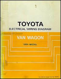 1984 toyota van wagon wiring diagram manual original