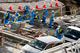 Light Demolition Work Workers Take Parts Demolition Work Tokyo Electric Editorial