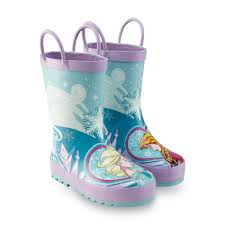 western chief disney s frozen girl s elsa anna purple blue rain boot