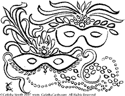 Small Picture Mardi Gras Coloring Pages by Catinka Knoth