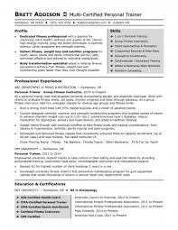 Personal Trainer Resumes Awesome Personal Trainer Resume Fitness Sample Sensational Templates