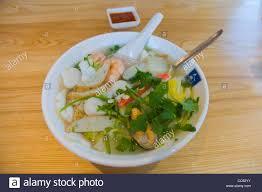 Vietnamese seafood ho fun noodle soup ...