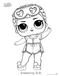 Lol Surprise Doll Coloring Pages Sleeping Bb Free Printable