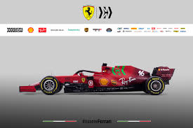 Ferrari fired up the engine on its 2021 f1 car for the first time on friday morning as the team confirmed its launch plans ahead of the new season. Ferrari 2021 F1 Car Labelled Ugliest On Grid As Fans Slam Green Stripes And Burgundy Rear Wing