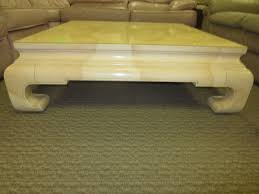 square ming dynasty coffee table oriental chinese goatskin